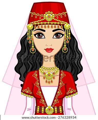Royalty-free Animation Indian princess in a… #223881928 ...