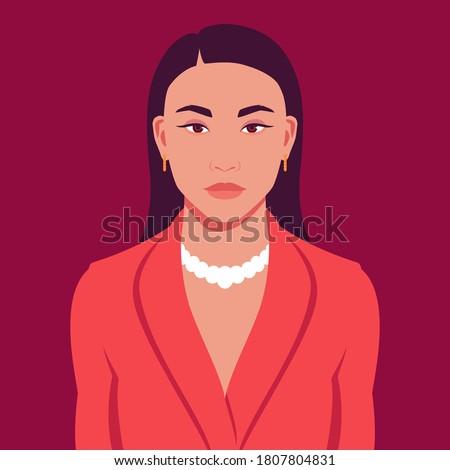 portrait of asian woman in