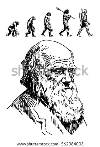 portrait of charles darwin and