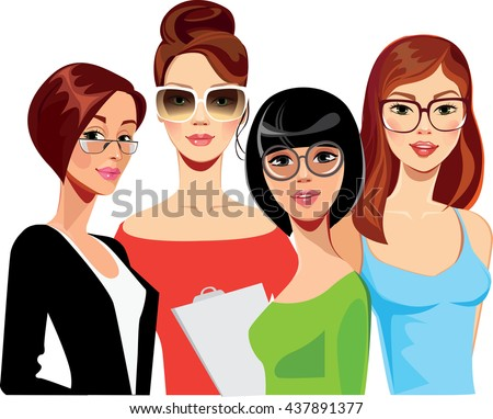 portrait of face girls on