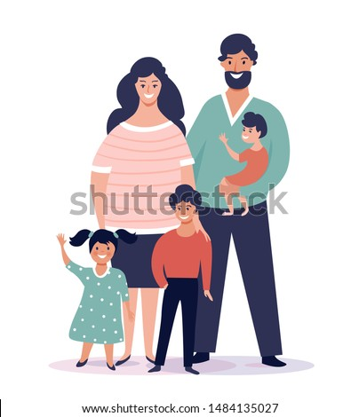 portrait of happy family with