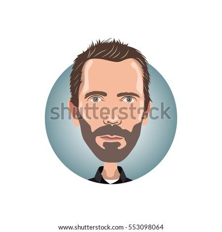 portrait of hugh laurie icon