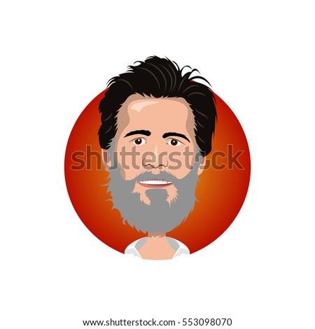 portrait of jim carrey icon