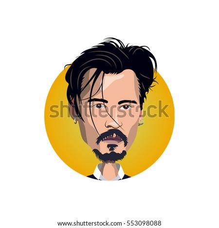 portrait of johnny depp icon