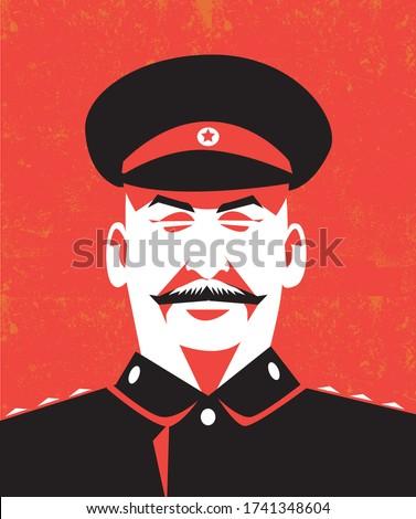 Portrait of Joseph Stalin, USSR leader Stock photo ©