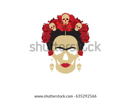 portrait of mexican catrina