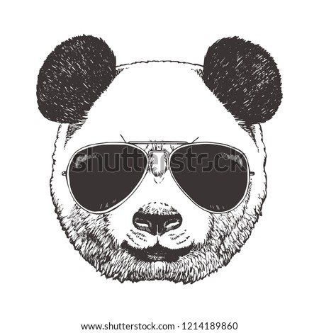 7a1f274cd25 Portrait of Panda with glasses