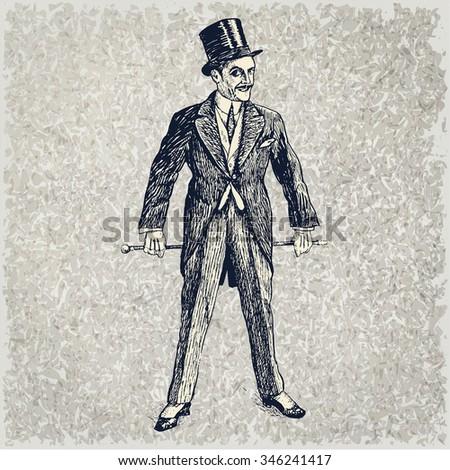 portrait of the elegant man