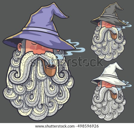 portrait of wizard smoking pipe