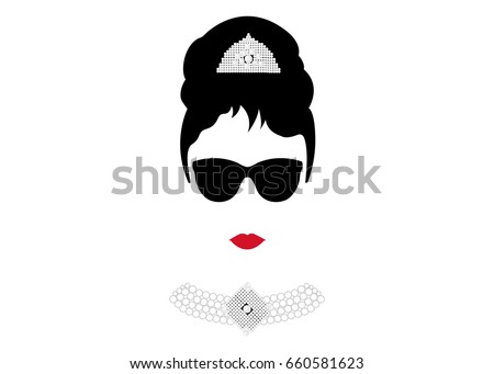 portrait retr  woman  diva with