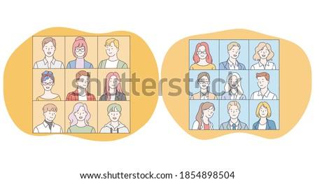 portraits  classmates  faces
