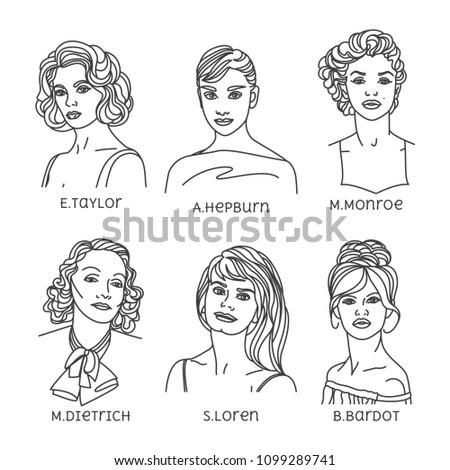 portraits of famous actresses