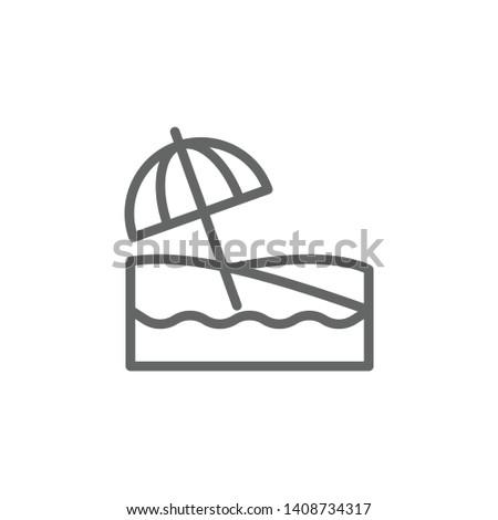 portugal  beach icon element