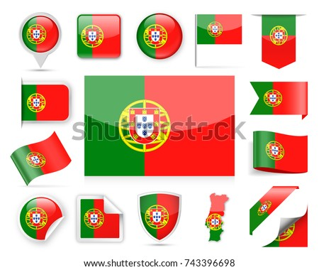 Portugal Map Vector Set And Icons Download Free Vector Art - Portugal map icon