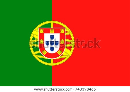 Portugal Flag Vector Icon - Illustration