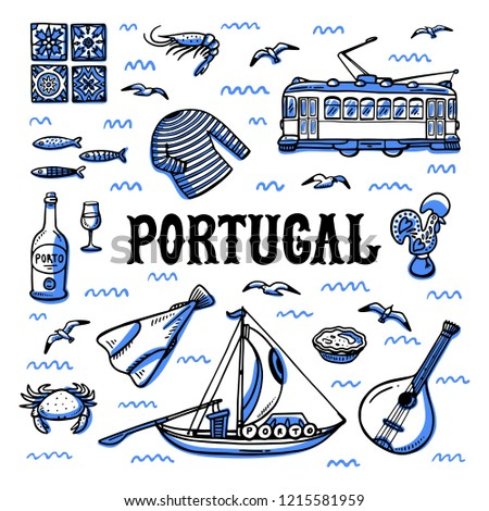 portugal landmarks set