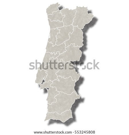 Portugal Map Vector Download Free Vector Art Stock Graphics - Portugal map black and white