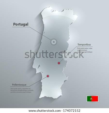 Portugal Map Vector Illustration - Download Free Vectors