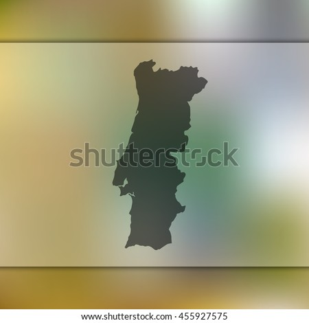 portugal map on blurred