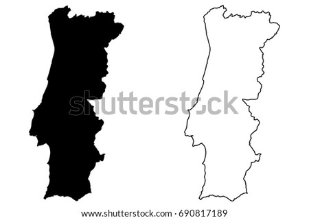 Portugal Map Vector Icons Download Free Vector Art Stock - Portugal map vector