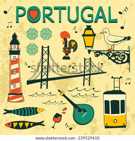 portugal tipical icons