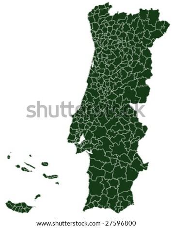 portugal vector map, version 1