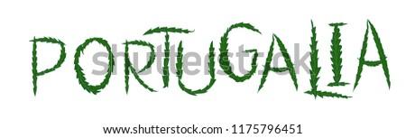 portugalia weed embroidery