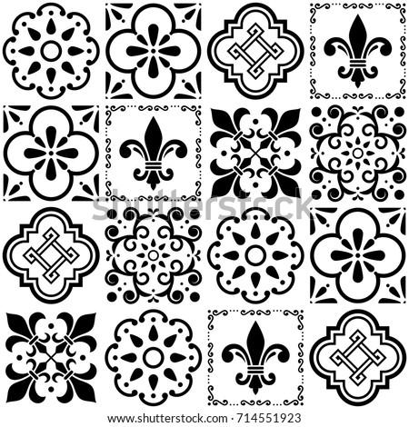 portuguese vector tiles pattern ...