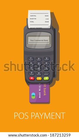 pos terminal with inserted