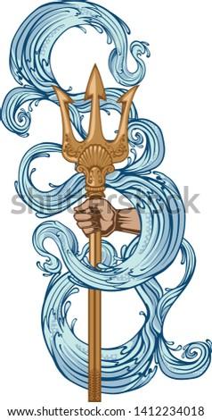 poseidon trident weapon  symbol