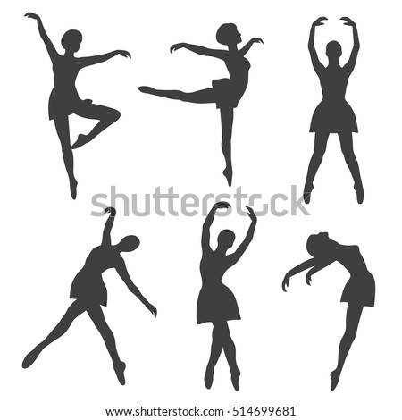 poses of ballet  hand drawn