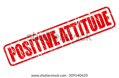 positive attitude red stamp