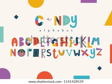 Positive colorful alphabet for kids.