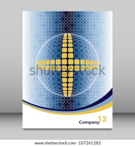 Positive global technology leaflet design.