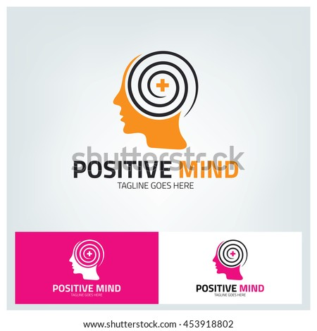 positive mind logo design