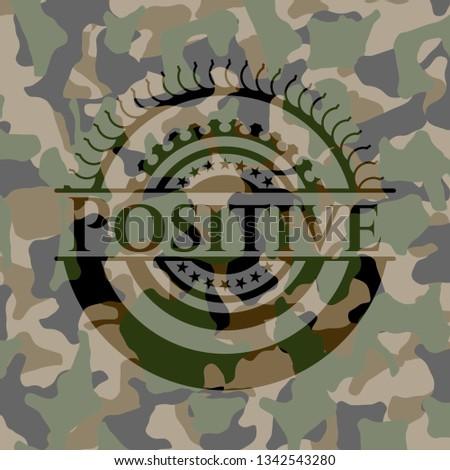 Positive on camo pattern