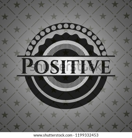 Positive retro style black emblem