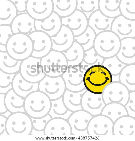 Positive smile faces abstract background. Smiling emoticons