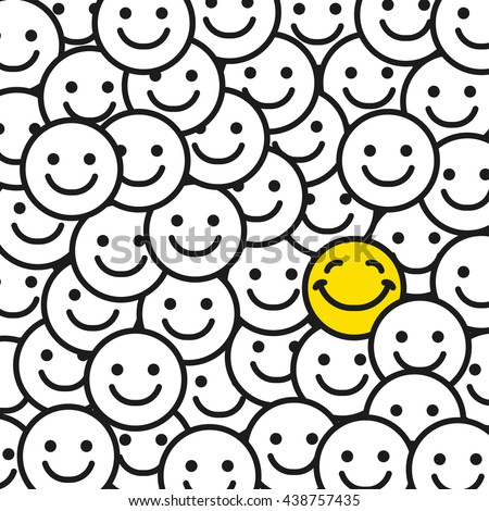 positive smile faces abstract