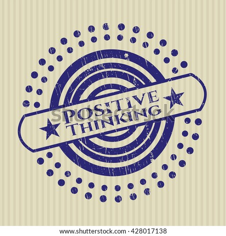 Positive Thinking grunge style stamp