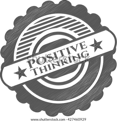 Positive Thinking pencil emblem