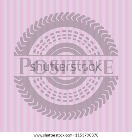 positive vintage pink emblem
