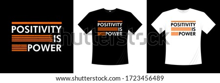 positivity is power typography t-shirt design Foto stock ©