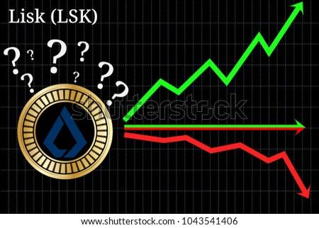 Possible graphs of forecast Lisk (LSK) cryptocurrency - up, down or horizontally. Lisk (LSK) chart.