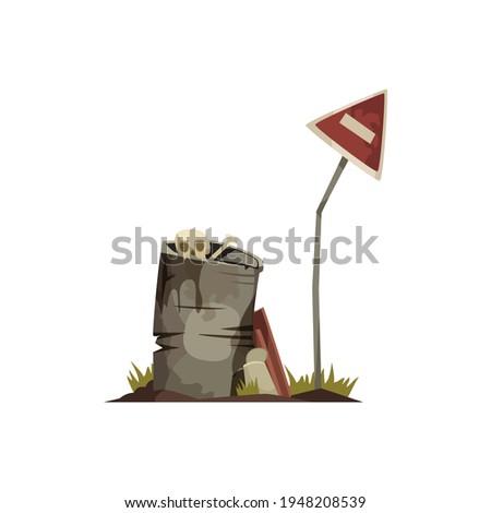 post apocalypse cartoon icon