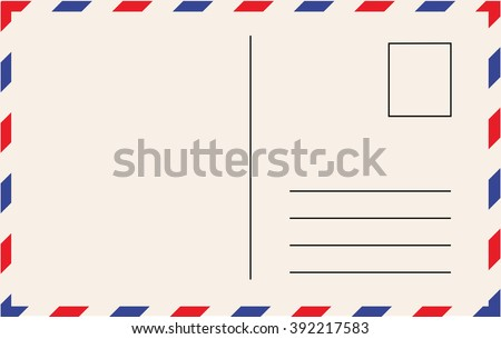 Post card template vector