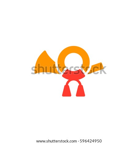 post horn icon vector  filled