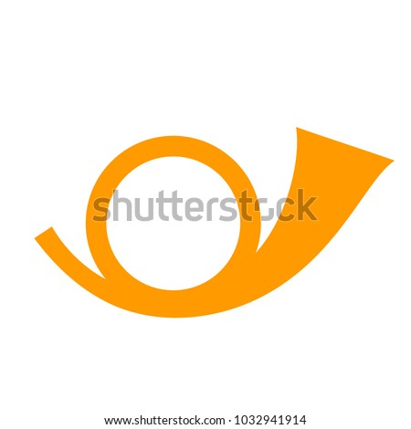 post horn vector icon isolated