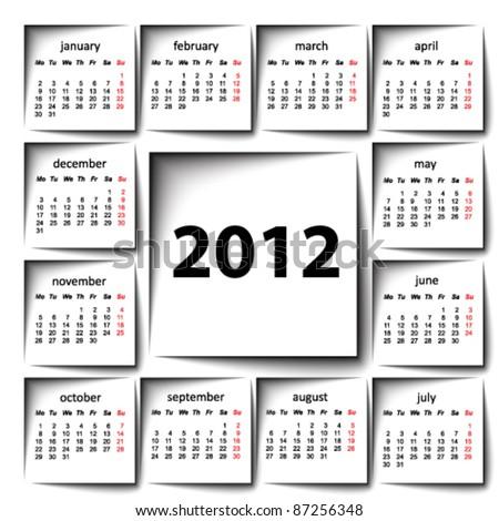 post it 2012 calendar