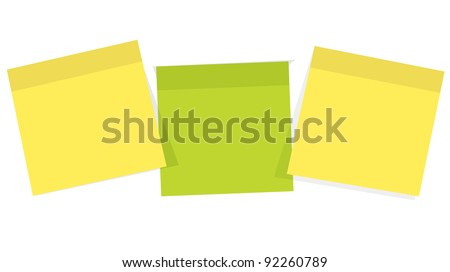 Post it  for reminder note on the white background